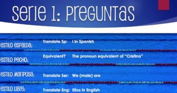 Spanish Subject Pronoun Relay Race