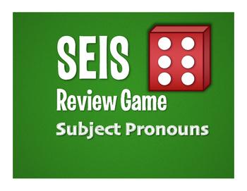 Spanish Subject Pronoun Seis Game