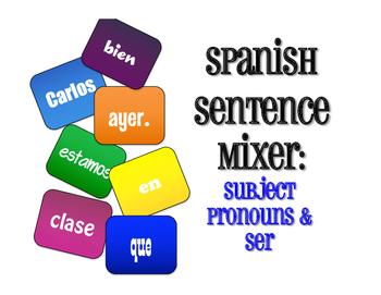 Spanish Subject Pronoun Sentence Mixer