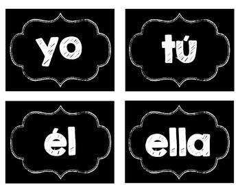 Spanish Subject Pronoun Slips / Español Pronombres