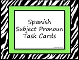 Spanish Subject Pronoun Task Cards