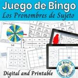 Spanish Subject Pronouns Game Bingo Spanish Boards