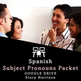 BEST SELLER! Spanish Subject Pronouns Packet for Practice