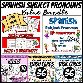 Spanish Subject Pronouns Value Bundle