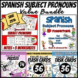 Spanish Subject Pronouns Value Bundle