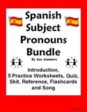 Spanish Subject Pronouns Bundle - Practice, Quiz, Skit, and Intro