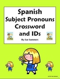 Spanish Subject Pronouns Crossword and Image IDs