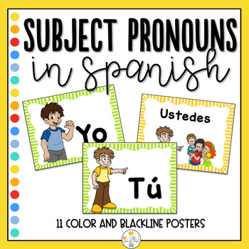 Pronombres Personales - Subject Pronouns Flashcards and Posters
