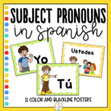 Subject Pronouns in Spanish Flashcards and Posters - Prono