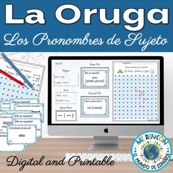 Spanish Subject Pronouns Game La Oruga