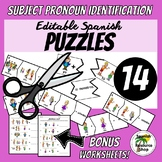 Spanish Subject Pronouns Identification Puzzles