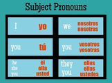 Spanish Subject Pronouns Poster