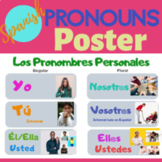 Spanish Subject Pronouns Poster with English Translations - translated