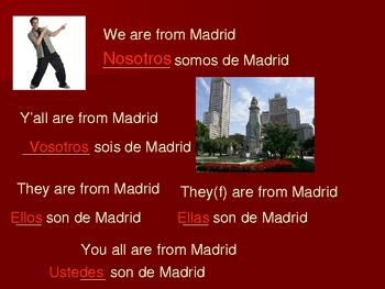 Spanish Subject Pronouns PowerPoint