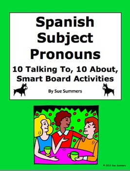 Spanish Subject Pronouns Practice for SmartBoard