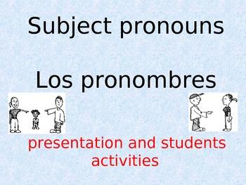 Spanish Subject Pronouns Presentation