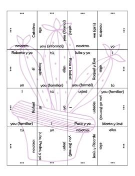 Spanish Subject Pronouns Puzzle
