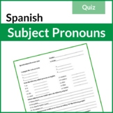 Spanish Subject Pronouns Quiz (Los Pronombres Personales)