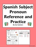 Spanish Subject Pronouns Reference and Practice