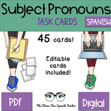 Spanish TASK CARDS Subject Pronouns for practice and review