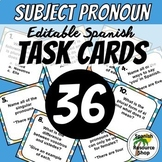 Spanish Subject Pronouns Task Cards