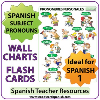 Spanish Subject Pronouns Wall Charts
