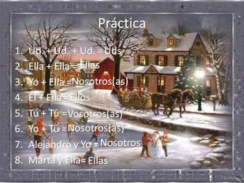 Spanish Subject Pronouns PowerPoint (Yo, tu, ud, ellos, etc)