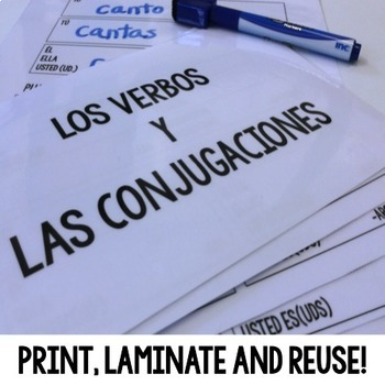 Spanish Interactive Notebook Subject Pronouns and Conjugation Set