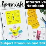Spanish Interactive Notebook Subject Pronouns and Ser Activities