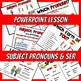 Spanish Subject Pronouns and Ser PICTURE Notes and Practice Powerpoint BUNDLE
