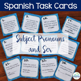 Spanish Task Cards Subject Pronouns and Ser
