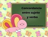 Spanish Subject-Verb Agreement - Concordancia entre sujeto y verbo
