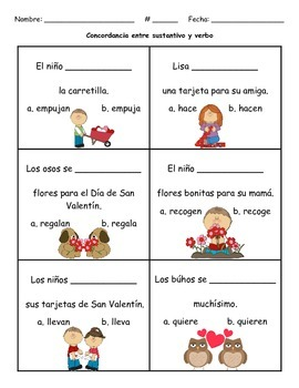Spanish Subject-Verb Agreement: Concordancia entre sustantivo y verbo