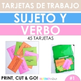 Spanish STAAR Writing Subject Verb Agreement Task Cards -45 task cards! #1
