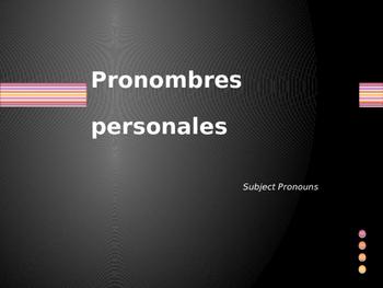 Spanish Subject pronouns