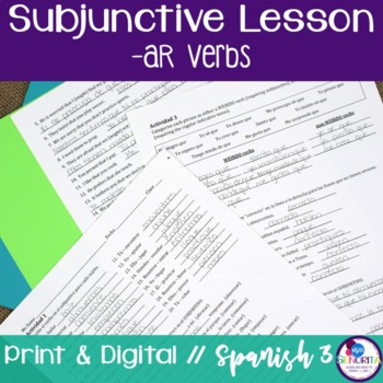 Spanish Subjunctive -AR Verbs Lesson