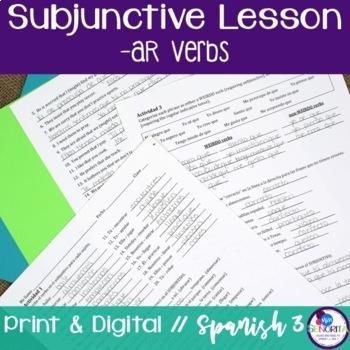 Spanish Subjunctive -AR Verbs Lesson