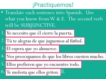 Spanish Subjunctive -AR Stem-Changing Verbs Powerpoint & Notes