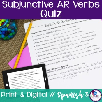 Spanish Subjunctive -AR Verbs Quiz