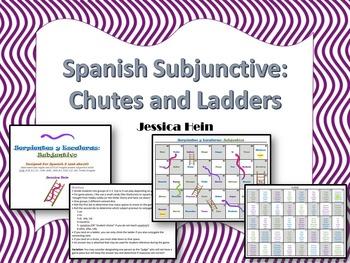 Spanish Subjunctive Chutes and Ladders