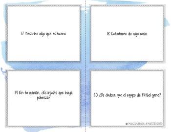 Spanish Subjunctive Conversation Task Cards - el subjuntivo Speaking in Spanish