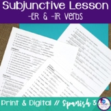 Spanish Subjunctive -ER and -IR Verbs Lesson
