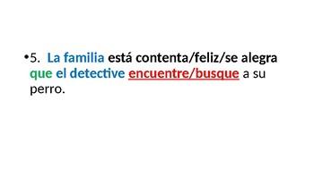 Spanish Subjunctive & Emotions
