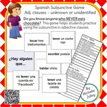 Spanish Subjunctive Game -- Adj. clauses - unknown or unidentified