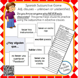 Spanish Subjunctive Game -- Adj. clauses - unknown or unid