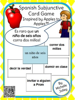 Spanish Subjunctive Game -- Inspired by Apples to Apples