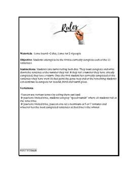 Spanish Subjunctive Game - Roll and Write - Juego con el subjuntivo