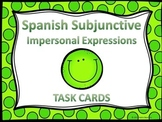 Spanish Subjunctive Impersonal Expressions Task Cards
