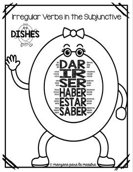 Spanish Subjunctive Irregular Verbs Mnemonic Visual DISHES