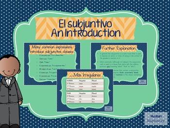 Spanish Subjunctive Mood Introduction PowerPoint (Español Subjuntivo)